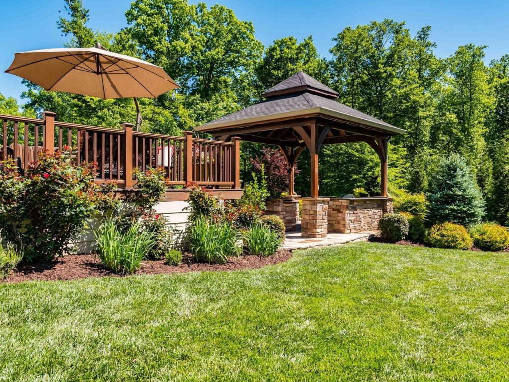Landscaping with Gazebo & Patio